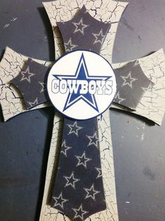 New Dallas Cowboys Wall Decor by TheCrossedCupcake on Etsy, $25.00 Change to colts or thunder