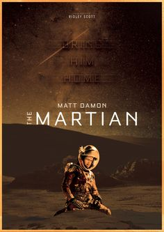 Film Poster for 'The Martian'. By Ben Paul