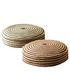 Striped Outdoor Floor Cushions