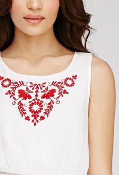 Floral Embroidered Gauze Dress | Forever 21 - 2049257838