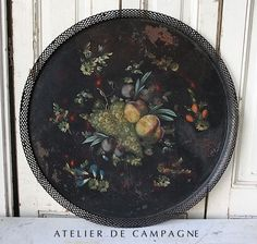 antique  toleware tray | Antique French Toleware Tray