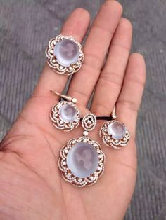 Beautiful icy clear jade 3-piece jewelry set ~ inquiry