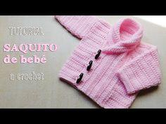 Crochet Bebe Recien Nacido Saco 20 Ideas For 2019 Knitting For Kids, Crochet For Kids, Baby Knitting, Crochet Zig Zag, Diy Crochet, Learn Crochet, Crochet Tools, Tutorial Crochet, Crochet Pillow Patterns Free