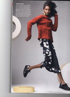 Erdem wool cable-knit sweater and blosso chain pencil skirt, $1,195. Vogue Apr. 2015 issue