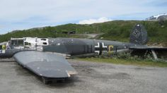 """Wreck of German He 111 bomber from the set of """"Into the White"""". Grotli, Norway. [OC][2048x1150]"""