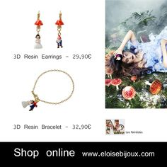 Les Nereides Snow White Earrings Bracelet