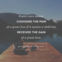 Foster care is not easy...It is an emotional roller-coaster and you feel like…