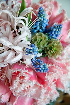 pink nerine lily bouquet...from http://doingso.com/