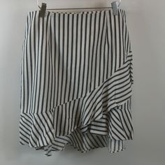 a new day Skirts | A New Day Striped Ruffle Hem Skirt 4 | Poshmark New Day, Blossoms, Size 14, Indigo, Blue And White, Stripes, Skirts, Cotton, Outfits