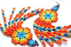 if only i had the patienceHuichol Hand Beaded Earrings