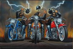 """Desenhos sobre motociclismo feitos por """"David Man"""""""