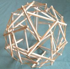 Tensegrity - Polyhedral toy like the body, elastic tissue with solid struts