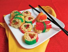 (Used in this project: Square Labels in Gianni style, Tall Labels in Astor style and Small White Gift Boxes.) This treat is perfect for kid guests and perfect to do with kids! All of the guests at our international party, myself included, delighted in using chopsticks to eat them. Candy Sushi • ¾ cup butter...Read More »