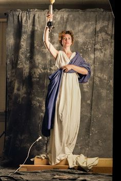 In 1992, a 28-Year-Old Jenny Joseph Modeling for What Would Become Today's Columbia Pictures Logo ~ vintage everyday