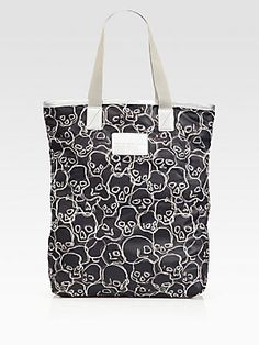 Marc by Marc Jacobs Skull-Printed Packable Nylon Shopper