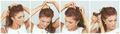 WEDDING HAIR WEEK: High Curly Bun | by emily meyers