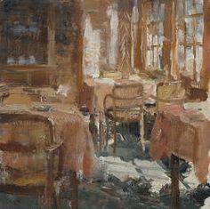 Nieuws van de dag | schilderij van een restaurant interieur in ...