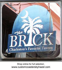 The Brick Charleston, SC. Marble Stone Coaster. http://yhst-128736562315201.stores.yahoo.net/charleston2.html