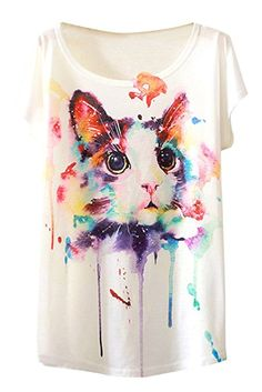 319b92ab78a PinkWind Women Digital Print Galaxy Summer T Shirts Tops One Size at Amazon  Women s Clothing store
