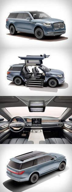 Lincoln Navigator-Konzept – Mark Vehec – Join in the world Best Luxury Cars, Luxury Suv, Suv Cars, Sport Cars, Suv Trucks, Lincoln Navigator, Ford Lincoln Mercury, Expensive Cars, Future Car