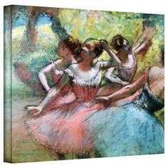 Edgar Degas 'Four Ballerinas on the Stage' Gallery-Wrapped Canvas Art   Overstock.com Shopping - Top Rated ArtWall Canvas
