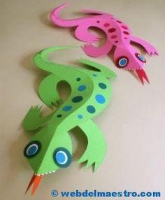 Manualidades para niños-lagarto