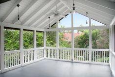 White Screen Porch
