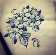 #flower #tattoo #line #black #newtraditional #rose #neotraditional #neo traditionel: