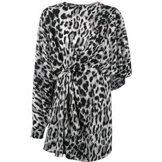 Saint Laurent leopard print dress ($1,755) ❤ liked on Polyvore featuring dresses, black, long sleeve ruched dress, leopard print dresses, leopard print cocktail dress, long sleeve cocktail dresses and print dress