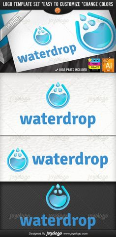 Nature Eco Lab Solutions 3D Drop Water Logo Template