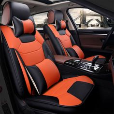 Aully Park Universal Fit Full Set Leatherette Car Bucket Seat Cover