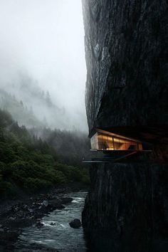 Cliff House Architecture Design and Concept 48 Architecture Design, Amazing Architecture, Building Architecture, Fashion Architecture, Minimalist Architecture, Futuristic Architecture, Beautiful Homes, Beautiful Places, Beautiful Pictures