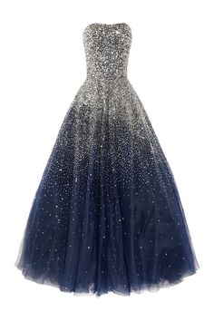 Marchesa Sequined Strapless Silk Tulle Gown from Net-A-Porter.com