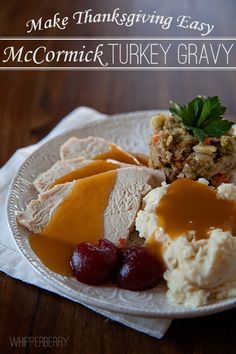 Make Thanksgiving Easy with McCormick Turkey Gravy!