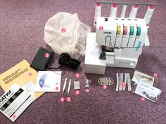 Sewing Machine Tutorial Learn how to set up your Brother Overlocker or Serger. - Learn how to set up your Brother Overlocker or Serger. Sewing Blogs, Sewing Basics, Sewing Hacks, Sewing Tutorials, Sewing Crafts, Sewing Tips, Sewing Ideas, Serger Projects, First Sewing Projects