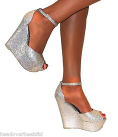 Silver wedges | Schoenen | Pinterest | Silver wedges, Wedges and Prom