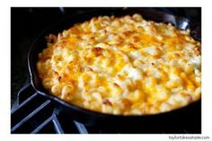 I made this Baked Mac n Cheese for Thanksgiving and it was a HUGE hit! I used mild, extra sharp, and white cheddar as well as Imo's provel on top. It was amazing!!!