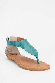 This sandal in turquoise or tiger-print? Decisions, decisions. $50
