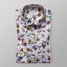 White Floral & Fauna Print Shirt - Slim fit | Eton Global