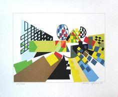 Perspectiva III, Diseño e Ilustración  Serigrafía original por Nadir Afonso