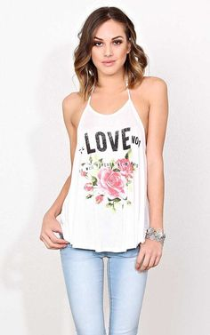 #FashionVault #styles for less #Women #Tops - Check this : THE LOVE NO 1 Knit Tank - - Ivry/Natrl in Size by Styles For Less for $16.99 USD