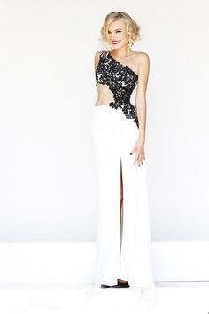 White A Line Prom Dress – Wishesbridal.com