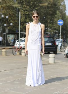 White #runway #fashion #street #style #moda #itgirl #look #tendencia #trend