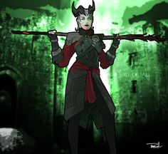 Dragon Age: Inquisition-Female Qunari Mage by tsbranch.deviantart.com on @deviantART