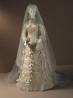 Woman's Two-piece Dress (Wedding), circa 1878