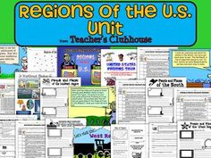 Regions of the US Unit from Teacher's Clubhouse
