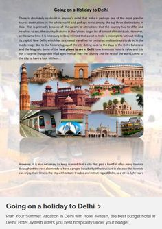 Special offer on summer vacations - If you are planing a holiday in Delhi Stay in Hotel jivitesh and get a special offer on this summer holidays for more info visit: http://goo.gl/Jj4g7K
