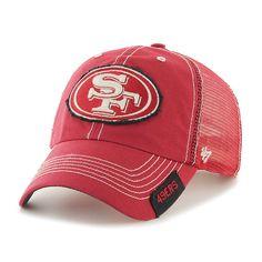 San Francisco 49ers 47 Brand Red Turner Mesh Clean Up Adjust Snapback Hat Cap