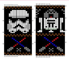 Star Wars fair isle knitting chart | General Disaray | Pinterest ...