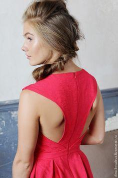 Платье - однотонный,ярко-красный,платье,подружка невесты,выпускной,Праздник